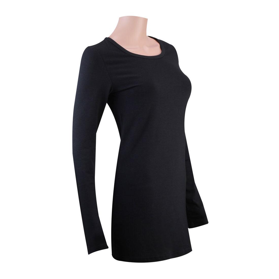 Womens winter under shirts tops t shirts long sleeve hip for Women s long sleeve t shirts