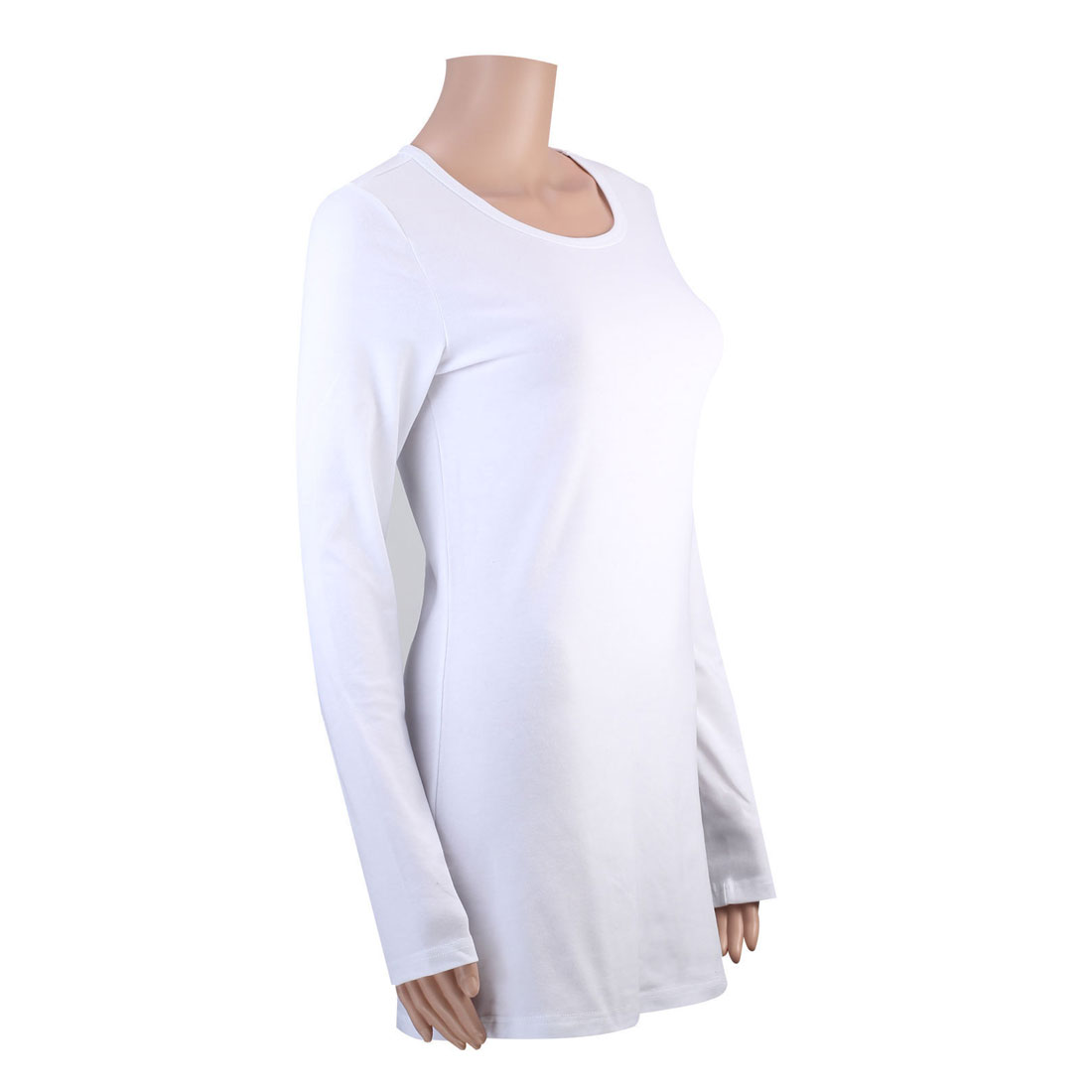 100 cotton womens ladies t shirts long sleeve plain shirt for Long length long sleeve t shirts