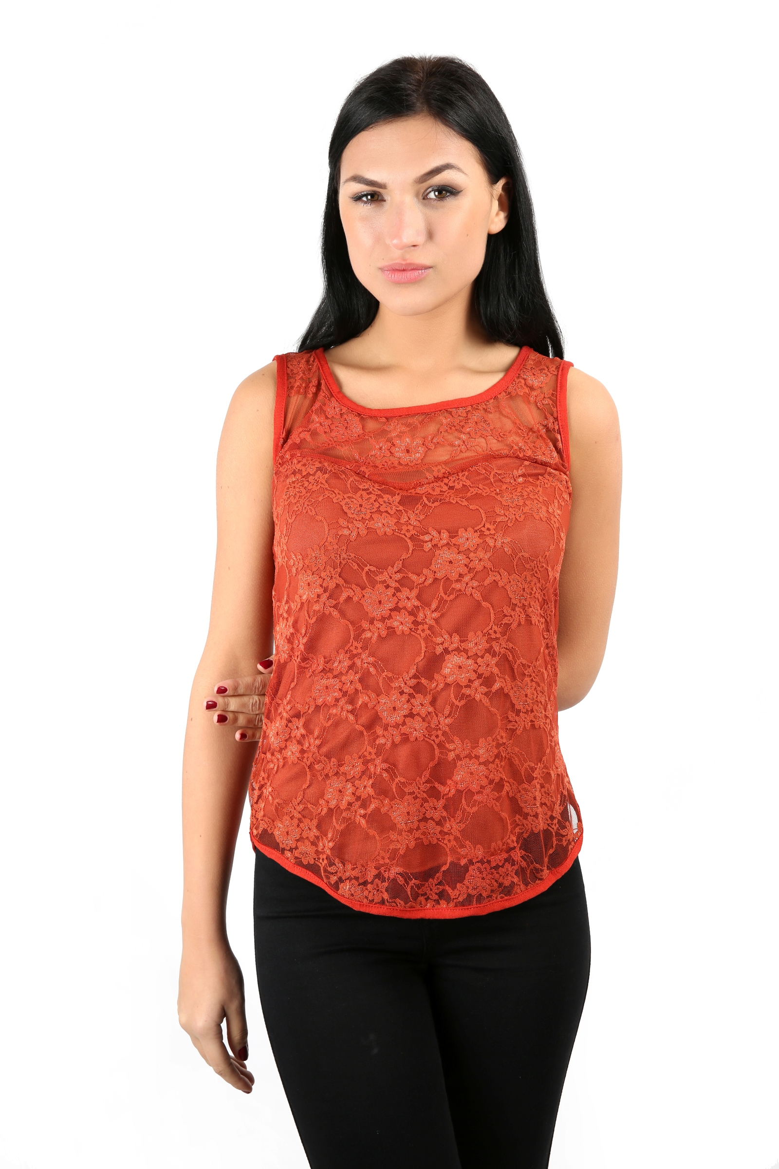 Ladies stretch bodycon sleeveless lace top womens t shirt for Sleeveless shirts for ladies
