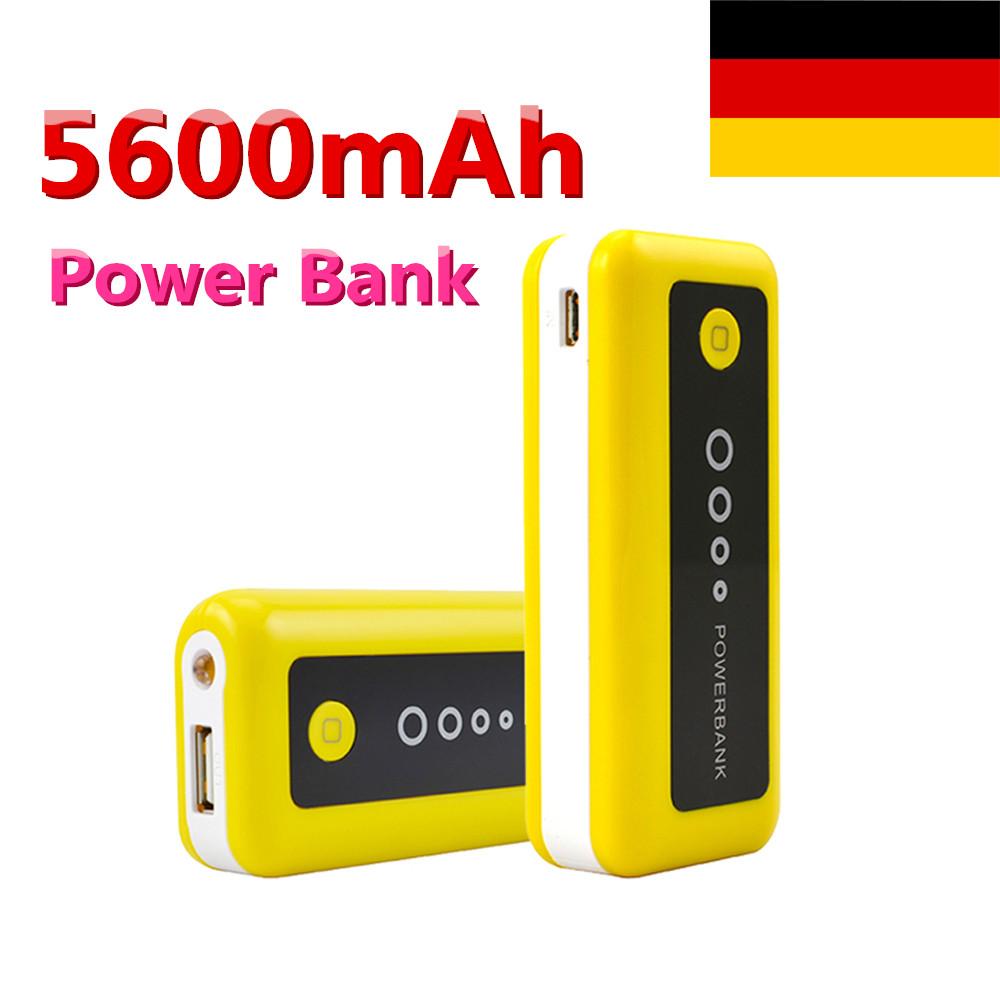 5600mah usb tragbar batterie aufladen power bank f r iphone handy kamera htc ebay. Black Bedroom Furniture Sets. Home Design Ideas