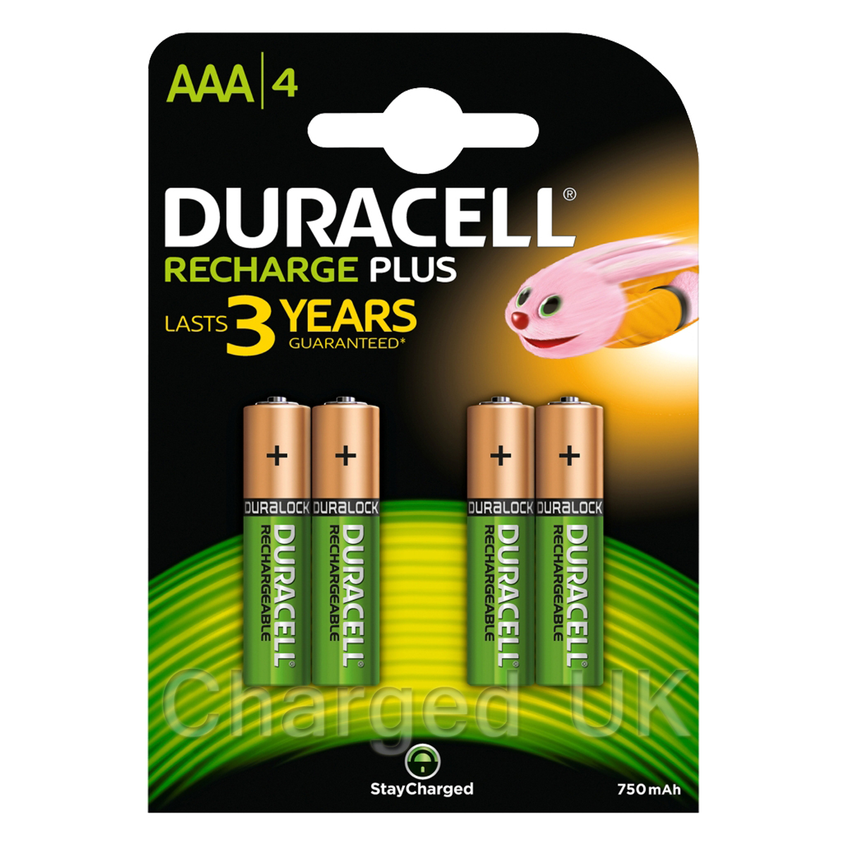 4 X Duracell Aaa 750 Mah Duralock Pre Charged Rechargeable Batteries  eBay