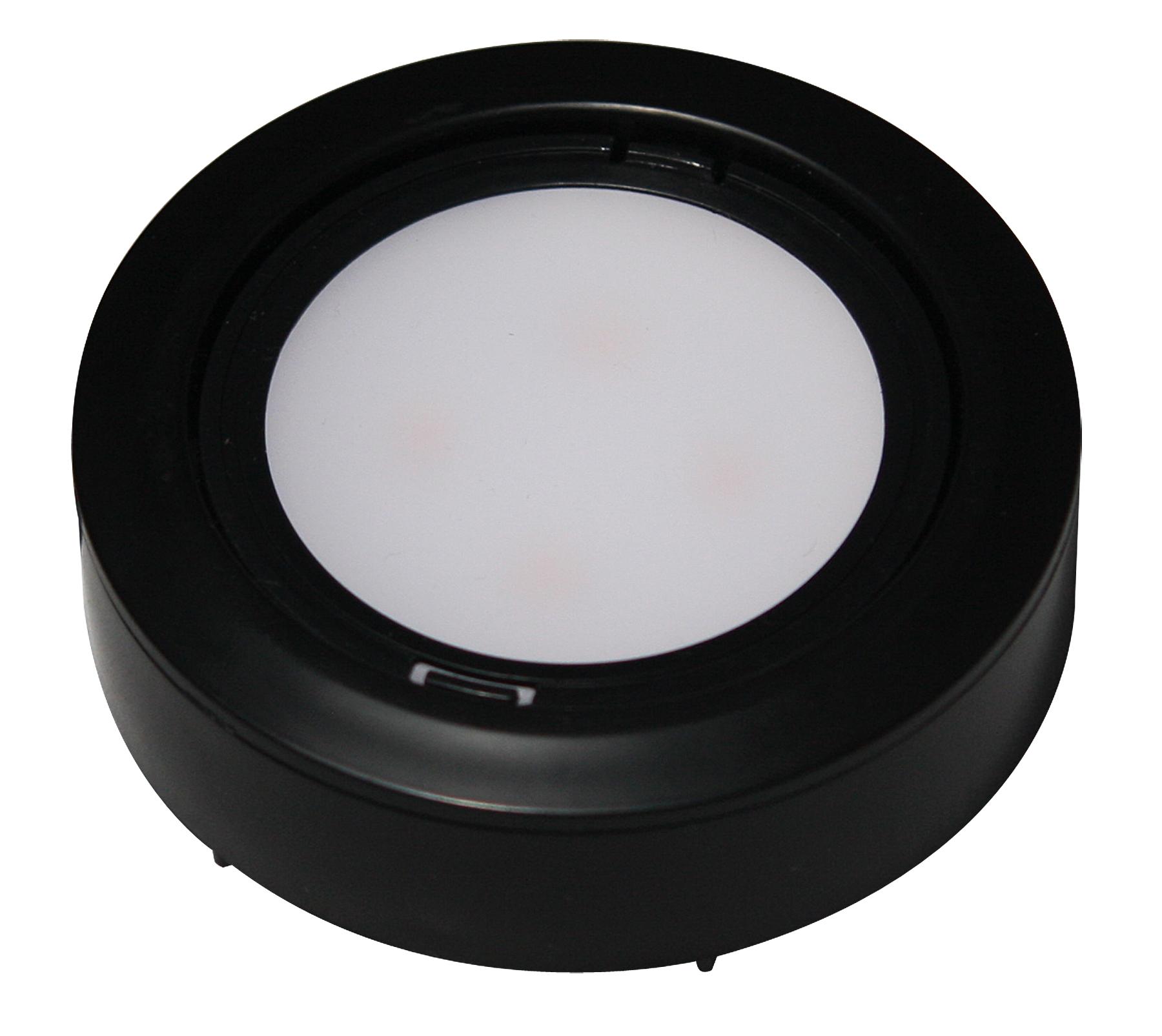system black american lighting lvp 3kit bk 120v led puck lights. Black Bedroom Furniture Sets. Home Design Ideas