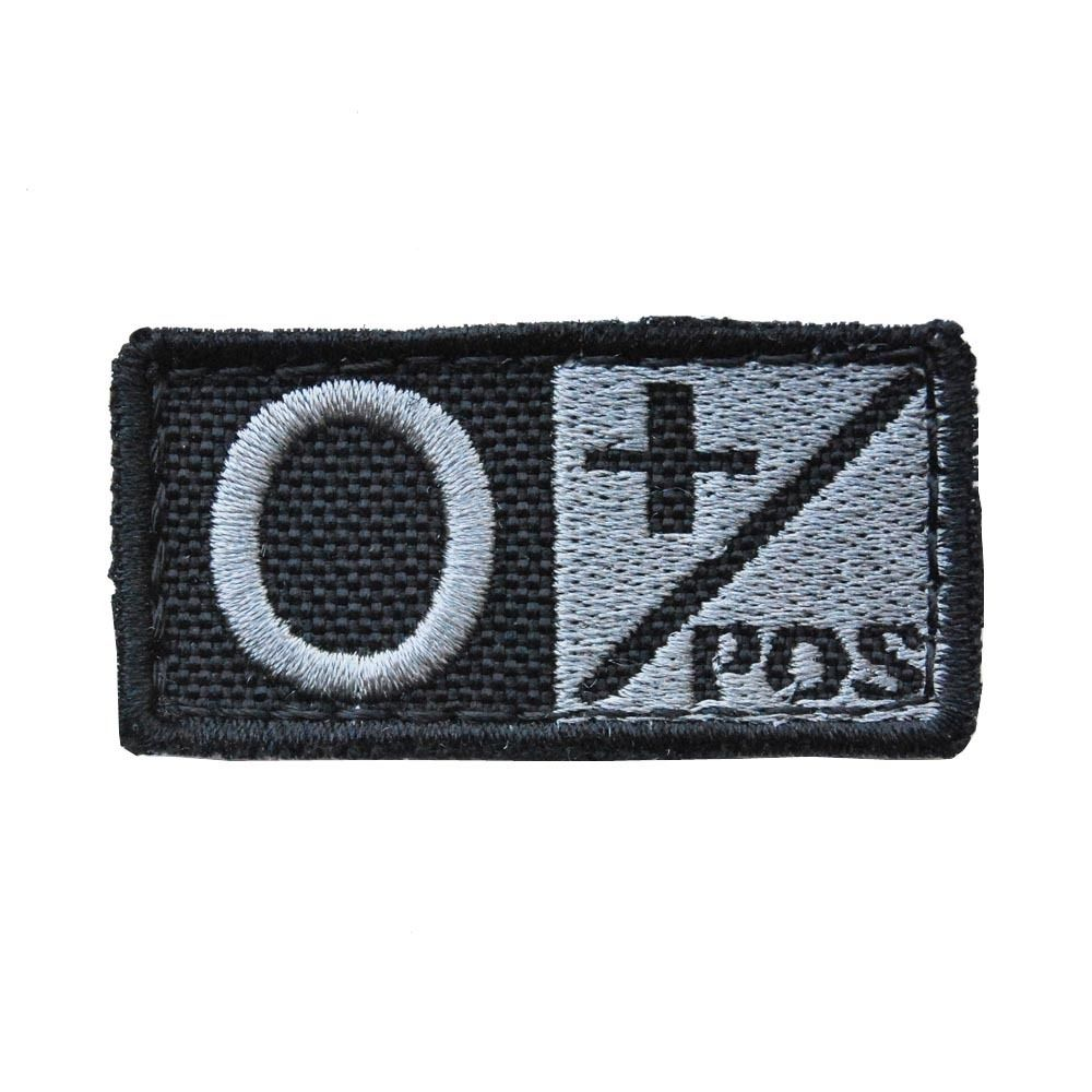 CONDOR #229 Bloodtype Patch Velcro Hook Backing O Pos + Positive