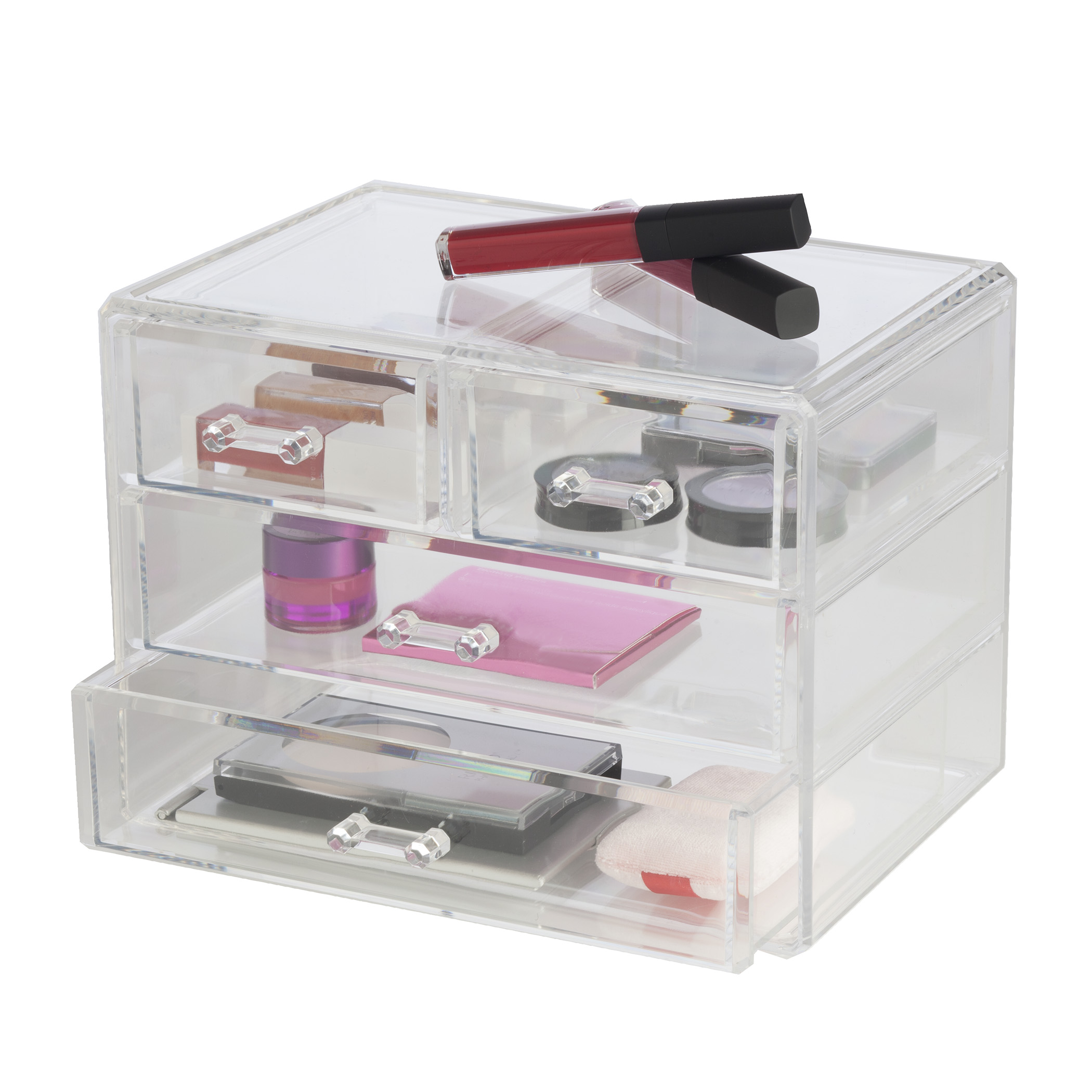 Clearly Chic 2 Drawer Cosmetic Organizer Ebay