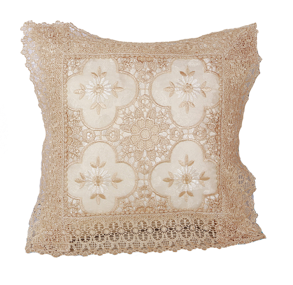 Throw Pillows With Lace : Luxurious Braided Decorative Lace Cutwork Design, 18