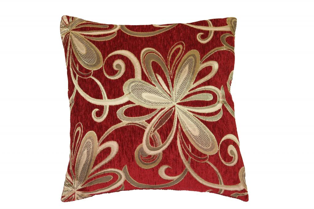 Vintage Decorative Throw Pillows : Chenille Chateau Vintage Floral Design 18