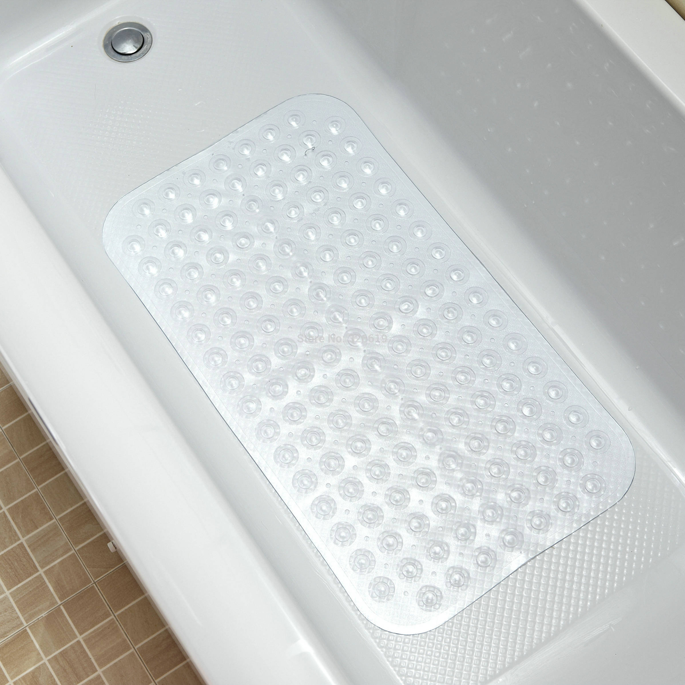 premium non slip bathtub mats with ultra secure suction cups ebay. Black Bedroom Furniture Sets. Home Design Ideas