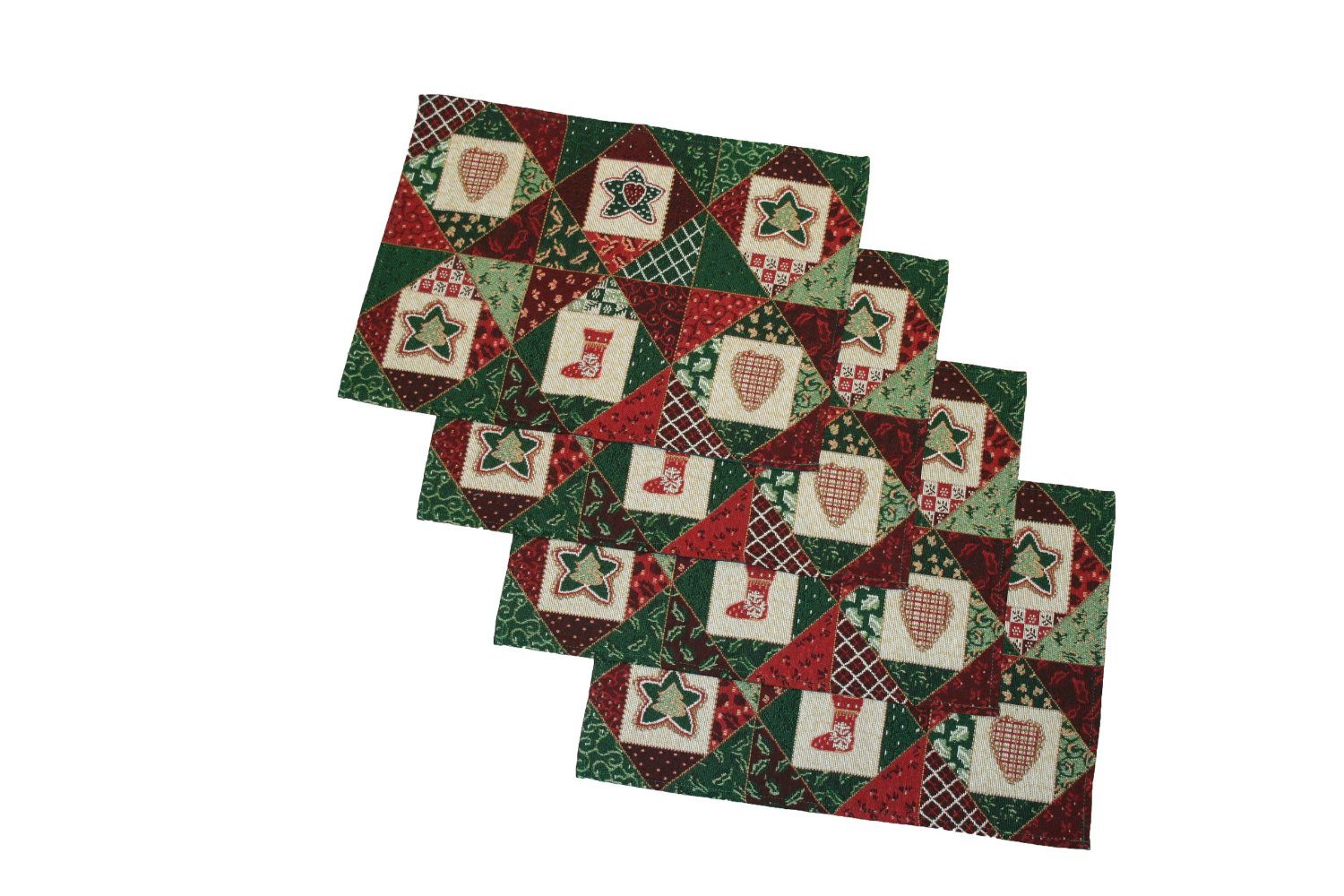 Christmas Holiday Tapestry Placemats Set of 4 : leaves from www.ebay.com size 1500 x 1000 jpeg 220kB