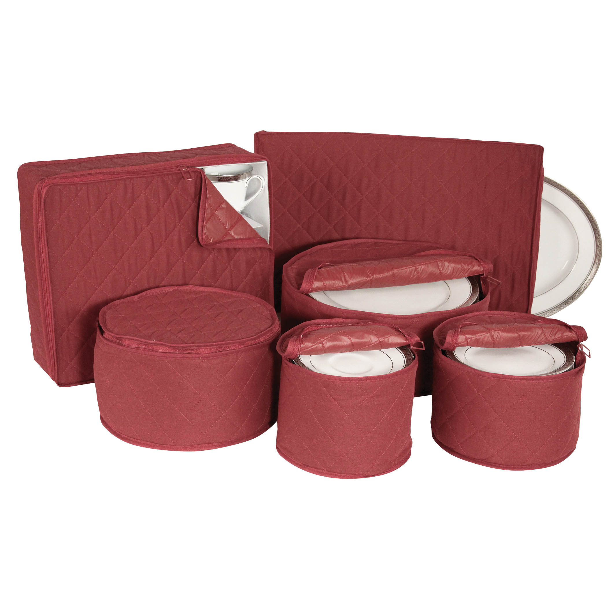 Quilted China Keepers 6pc Starter Set Crimson Ebay