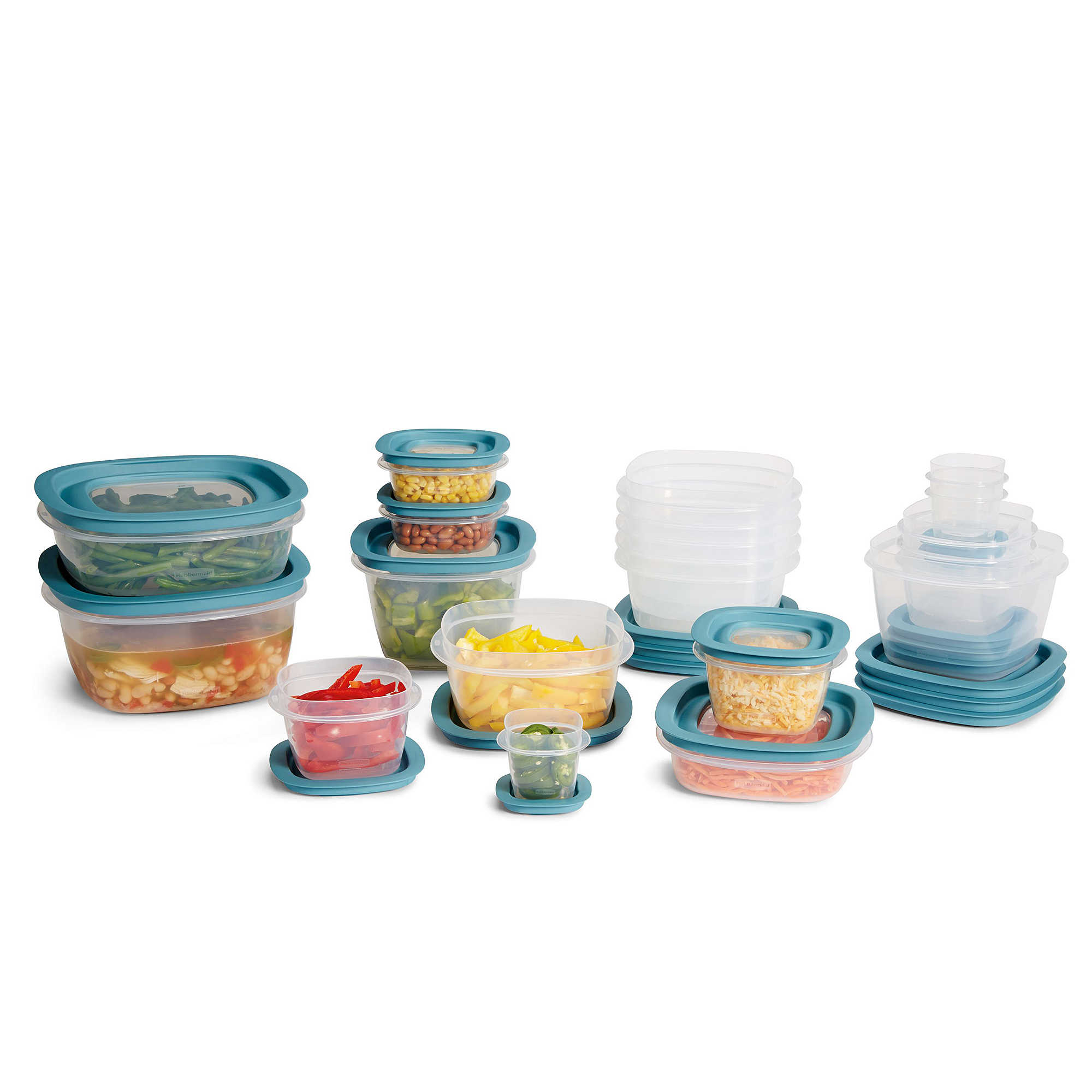 rubbermaid food storage with tritan plastic and easy fine lids | ebay