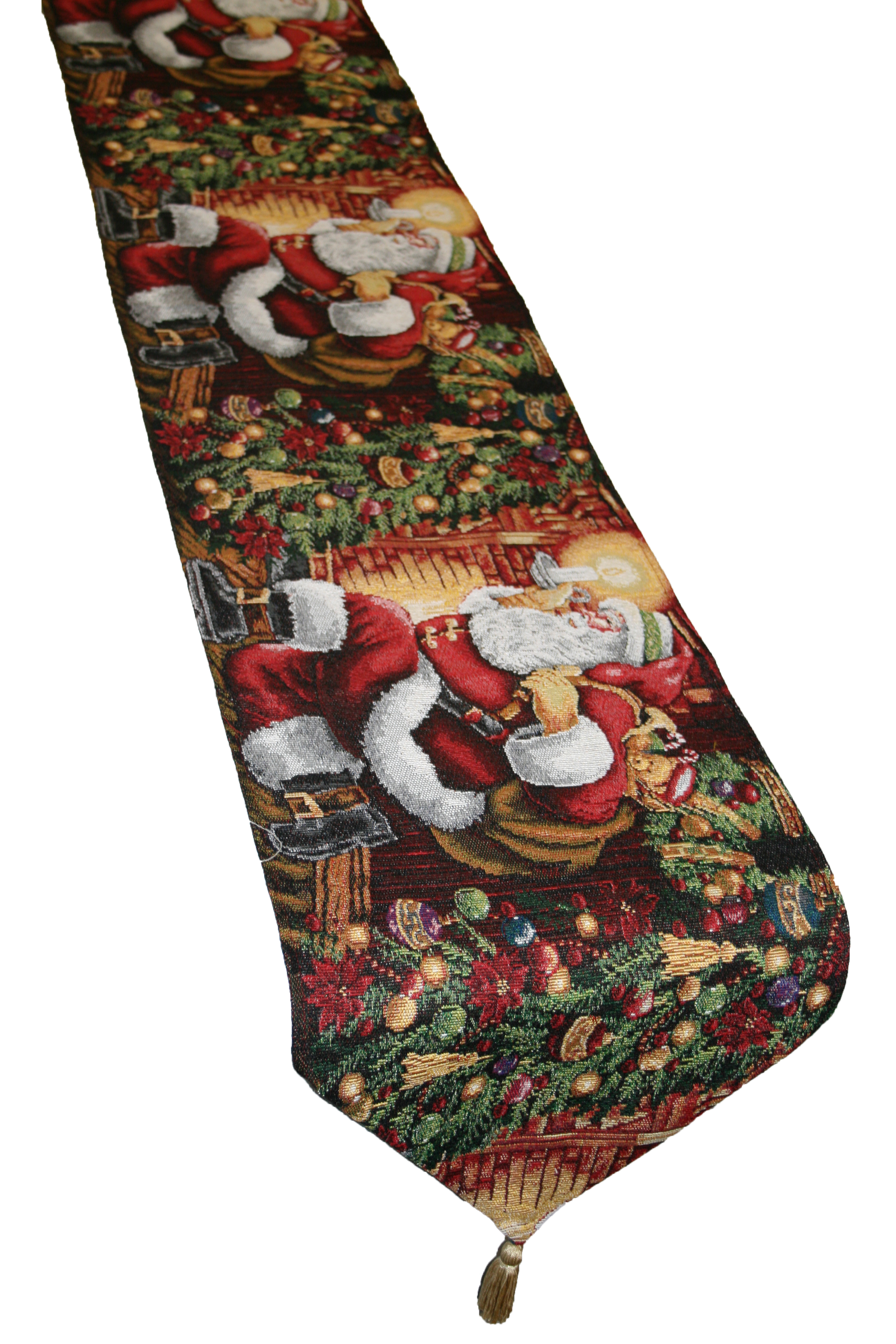 Holiday christmas poinsettia design quot table runner