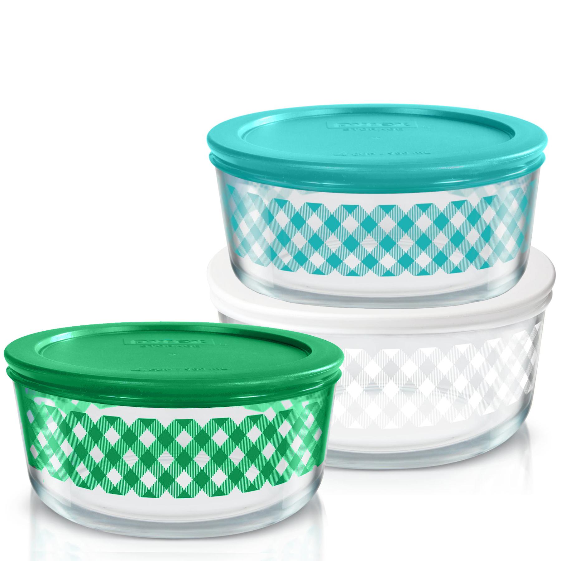 pyrex glass food storage set with lids ebay. Black Bedroom Furniture Sets. Home Design Ideas