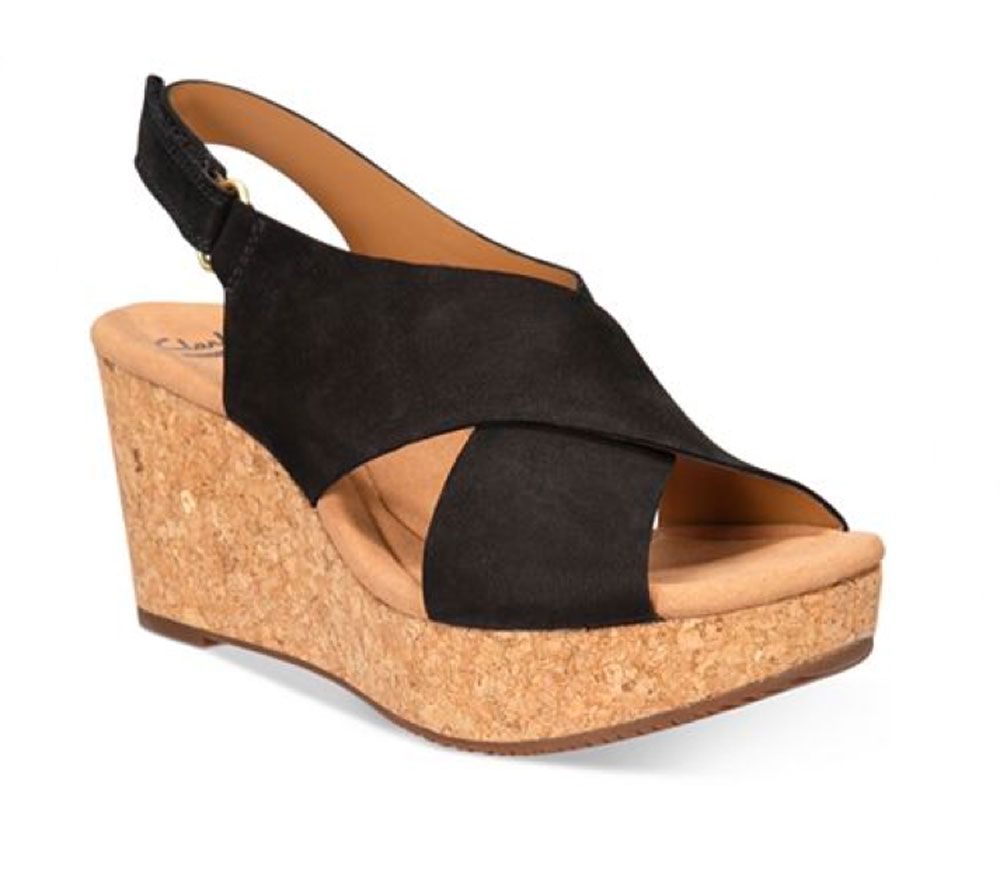 Unique Clarks Collection Women39s Helio Jet Wedge Sandals In Black  Lyst
