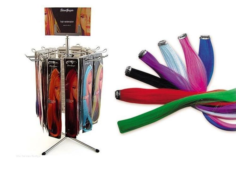 Stargazer-Baby-Hair-Extension-Synthetic-Clip-on-Streak-Various-Colors-43cm thumbnail 4