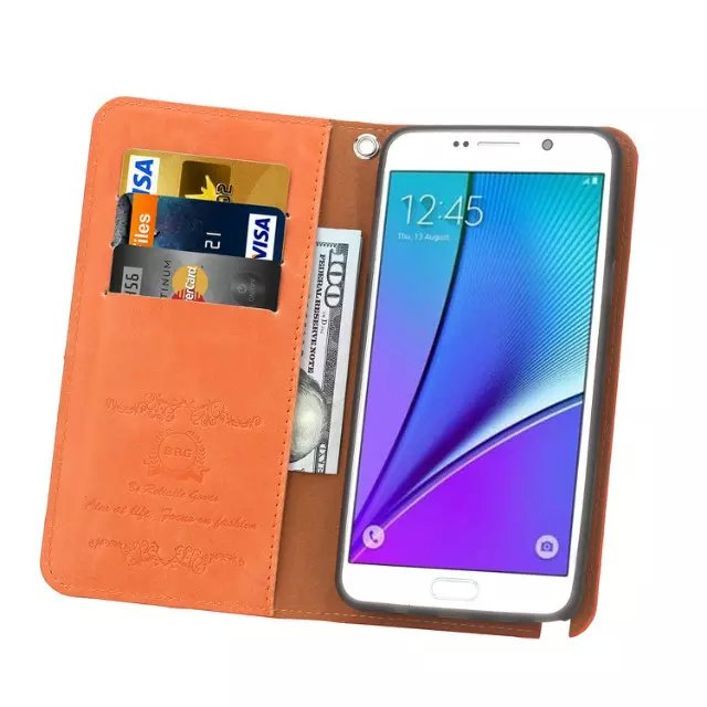 Magnetic Detachable One Touch Stand Wallet Case for Samsung Galaxy S6 Edge Note5
