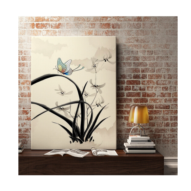 fresh morning glory multi color flower print framed wall decor art canvas fabric ebay. Black Bedroom Furniture Sets. Home Design Ideas