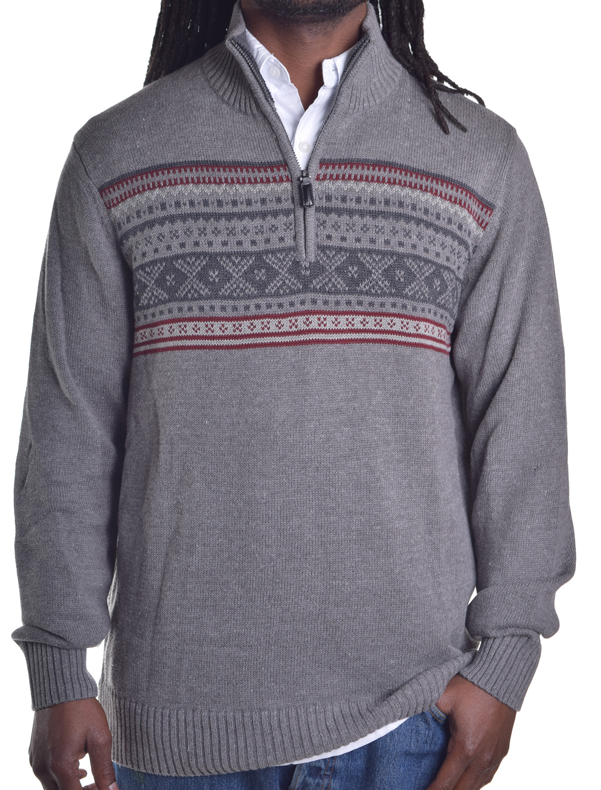 Tricots ST Raphael Men's 1/4 Zip Acrylic Pull Over Sweater ...
