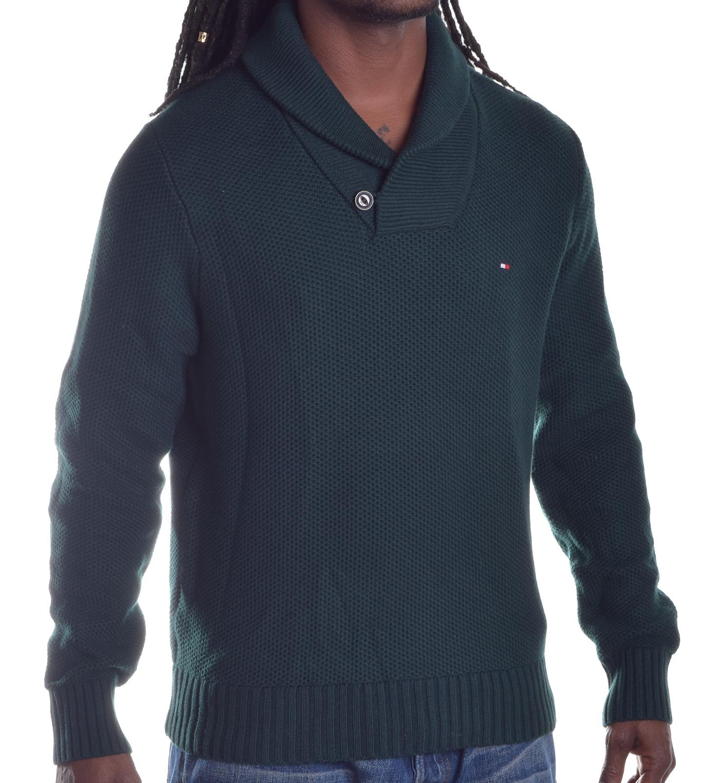 tommy hilfiger men 39 s wool shwal gift tower button pull over sweater ebay. Black Bedroom Furniture Sets. Home Design Ideas