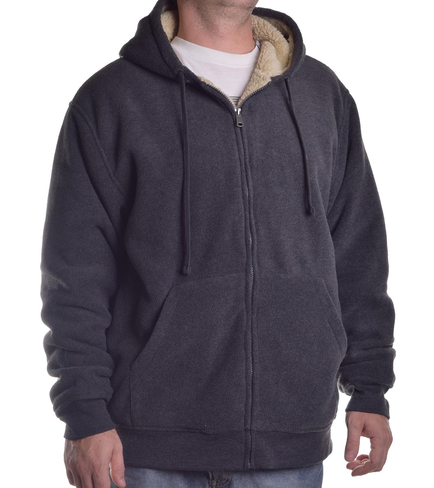 Weatherproof men 39 s vintage sherpa full zip hoodie ebay for Weatherproof vintage men s lightweight flannel shirt