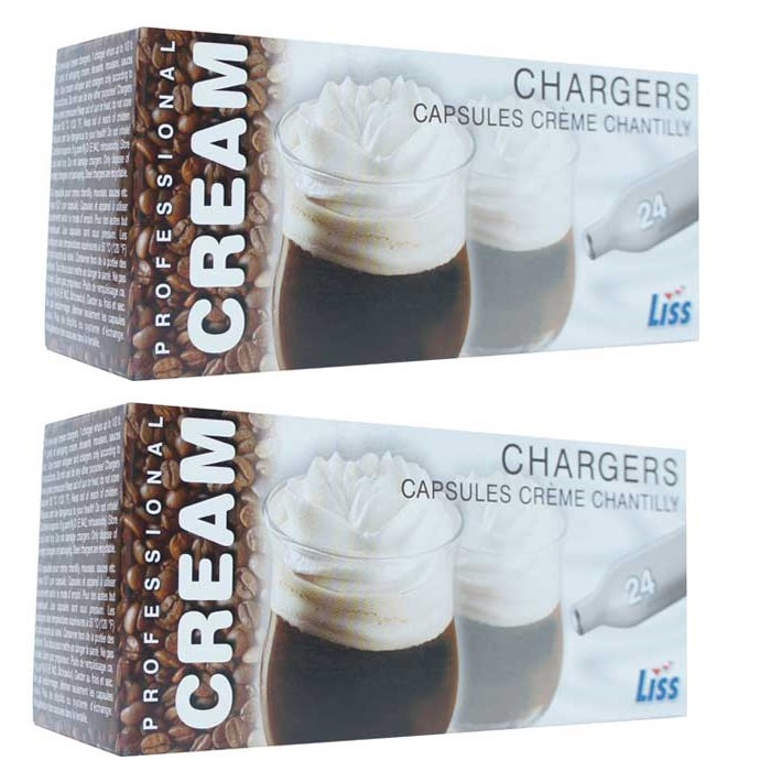 Whipped Cream Chargers Liss N20 NOZ NOS Nitrous Oxide 8g