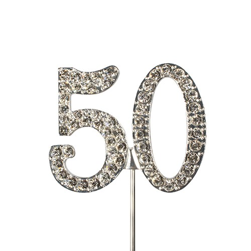 Diamante topper wedding anniversary birthday number cake for Number 5 decorations