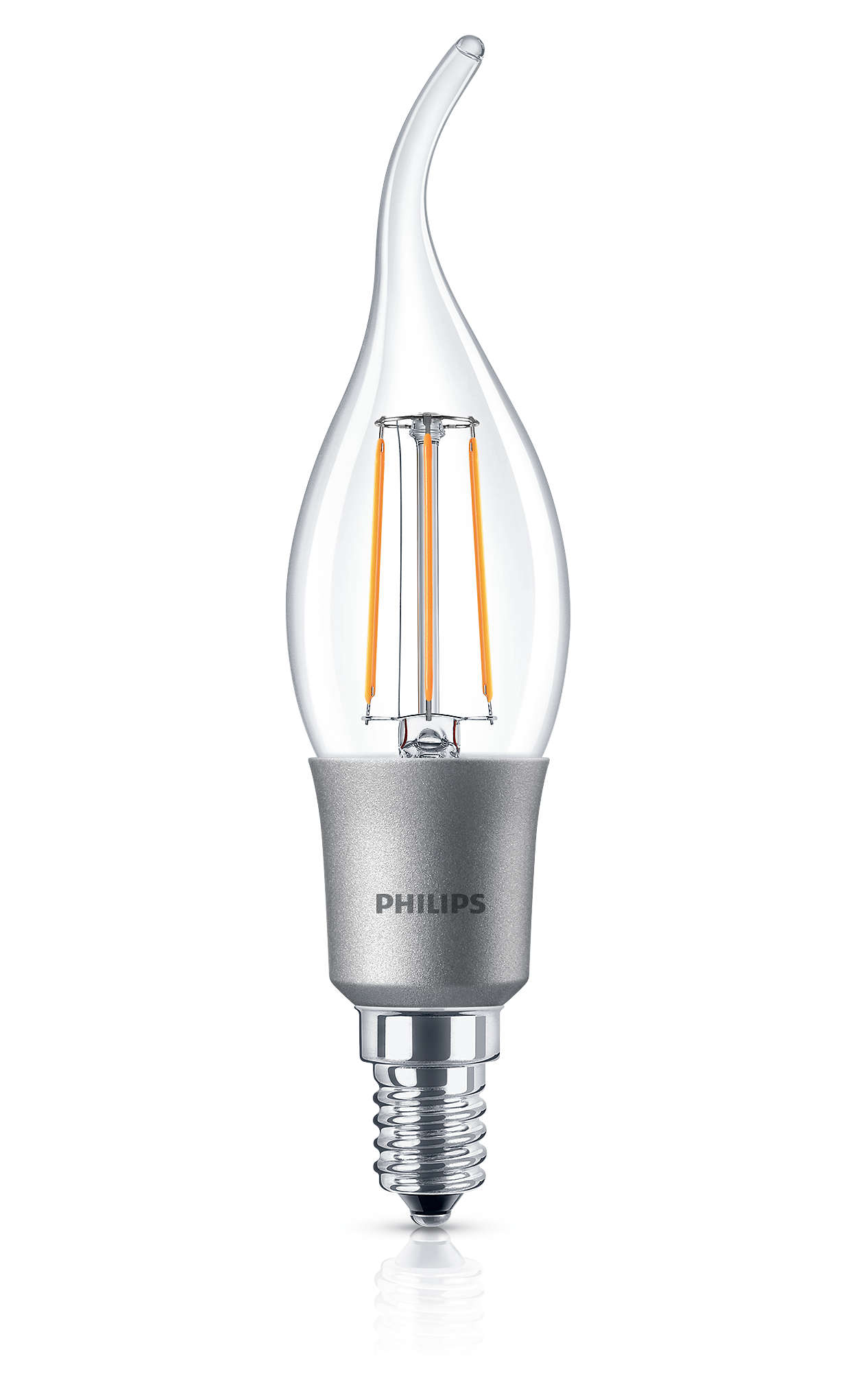 philips led classic 40w dimmable e14 warm white bent tip candle light bulb 470lm ebay. Black Bedroom Furniture Sets. Home Design Ideas
