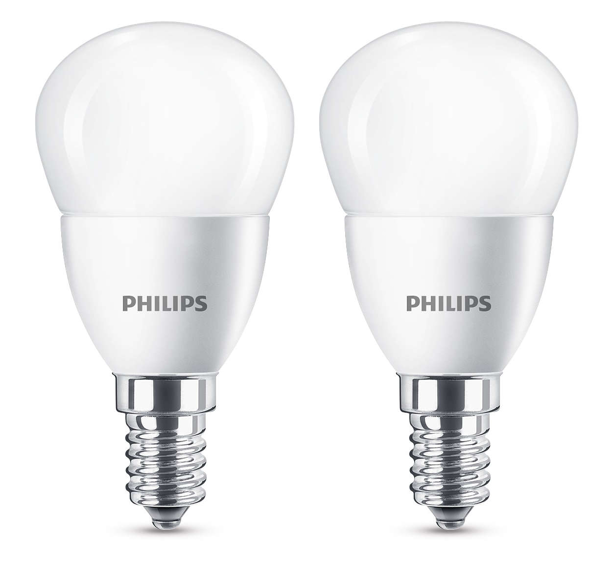 2 x philips led frosted e14 edison benennen 40w mini globus gl hbirnen 470lm ebay. Black Bedroom Furniture Sets. Home Design Ideas