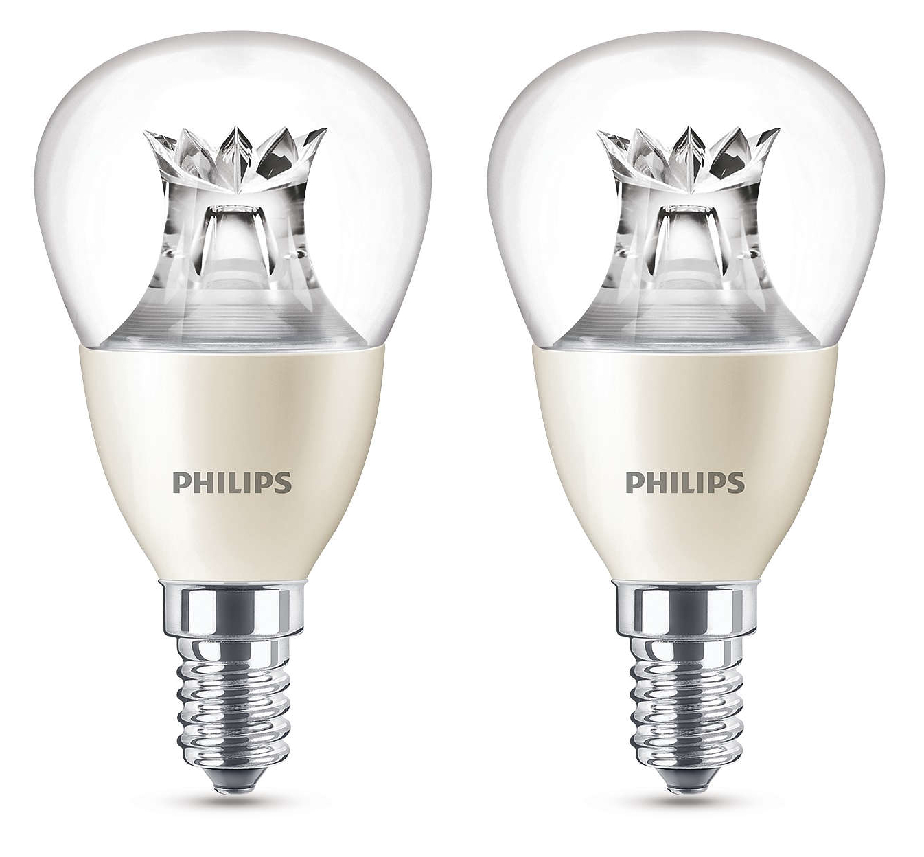 2x philips caldo luminoso led e14 edison 60w regolabile. Black Bedroom Furniture Sets. Home Design Ideas