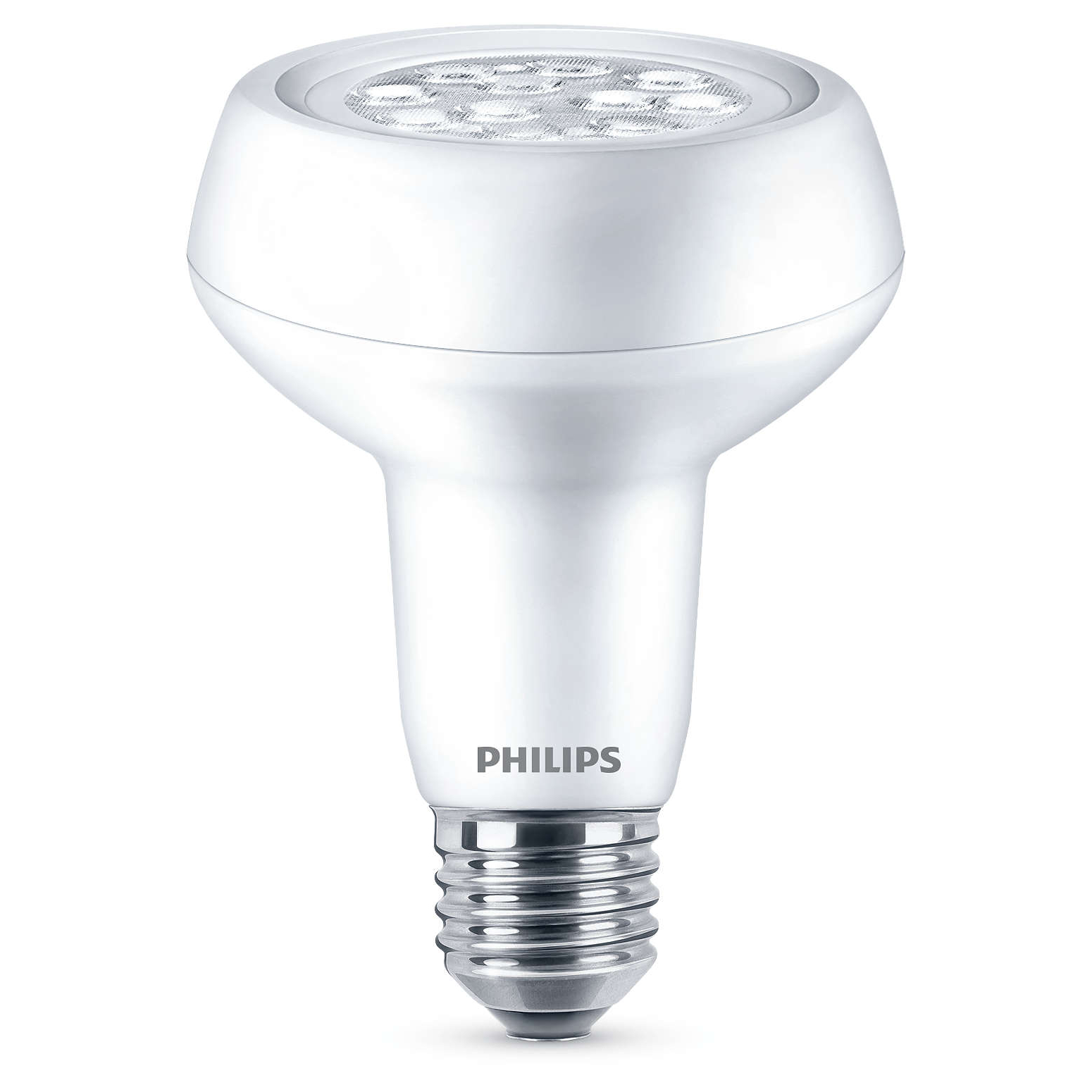 philips led r80 7 100w e27 edison reflector light bulb lamp 667lm warm white ebay. Black Bedroom Furniture Sets. Home Design Ideas
