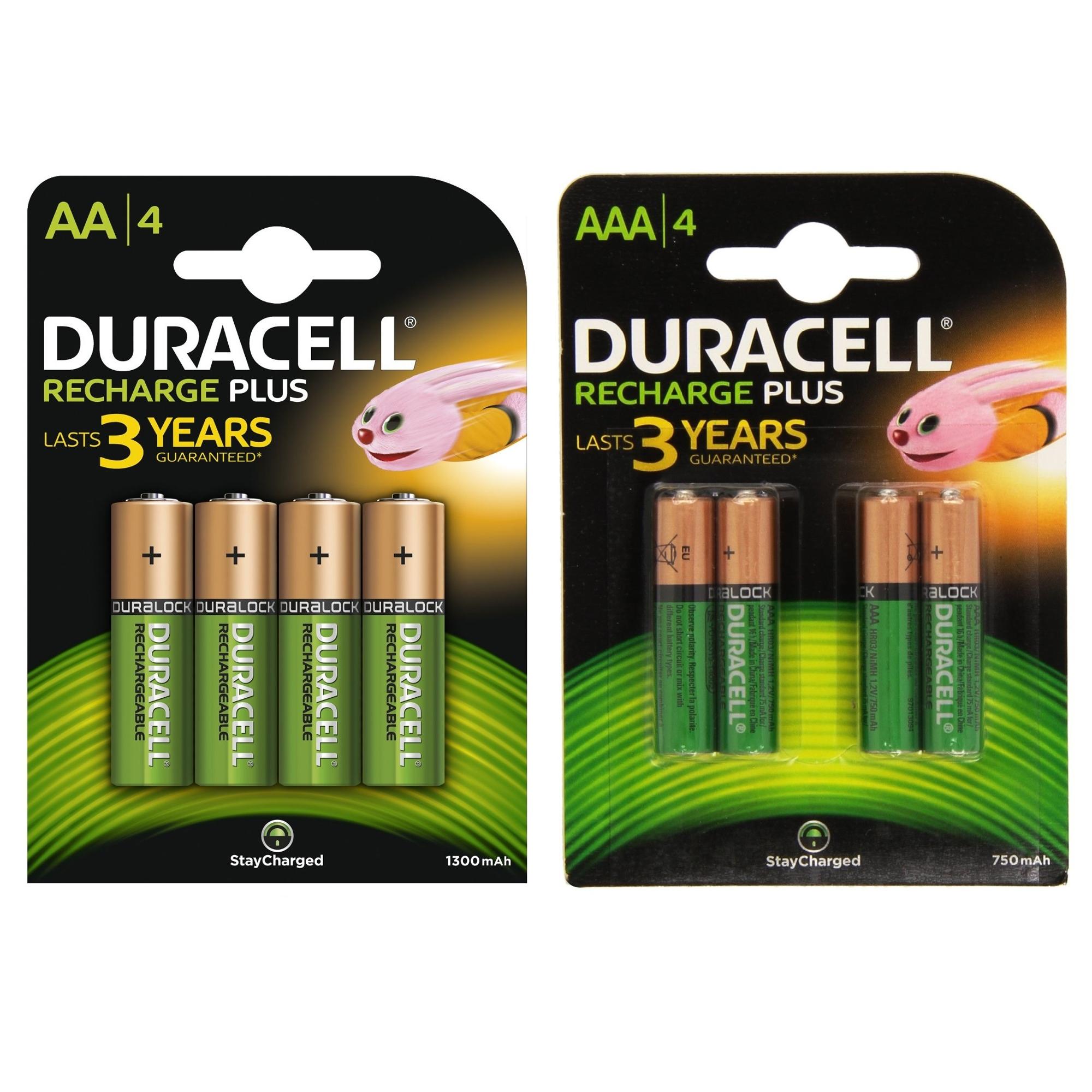 duracell plus aa aaa rechargeable t l commande pile pour appareil photo piles ebay. Black Bedroom Furniture Sets. Home Design Ideas
