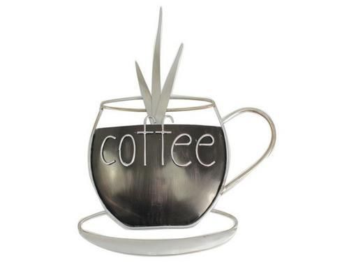 Metal Plaque Kitchen Coffee Cup Wall Art Ornament Home D Cor Ebay