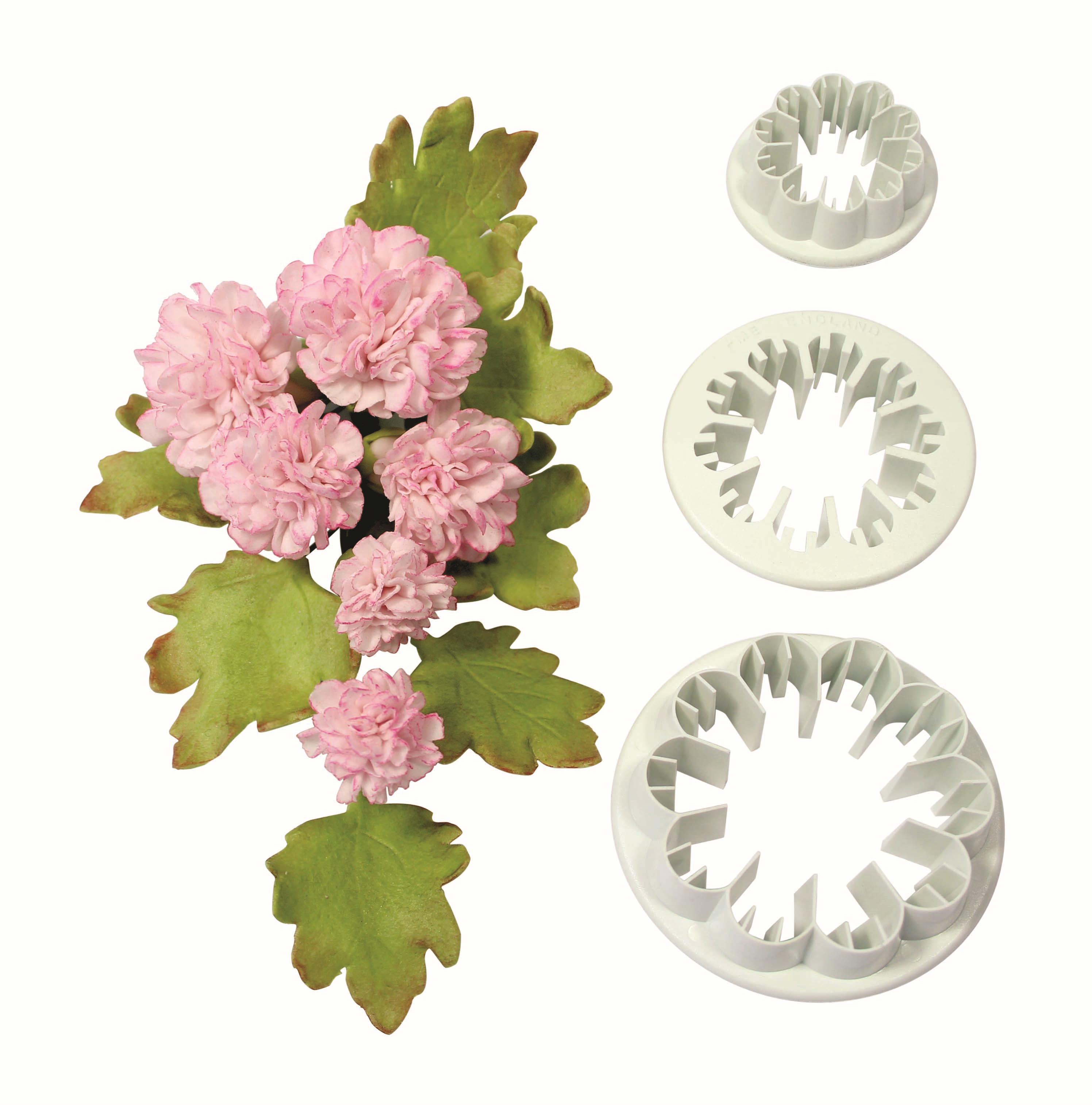 Pme Set 3 Stk Nelke Blume Kunststoff Glasur Fondant