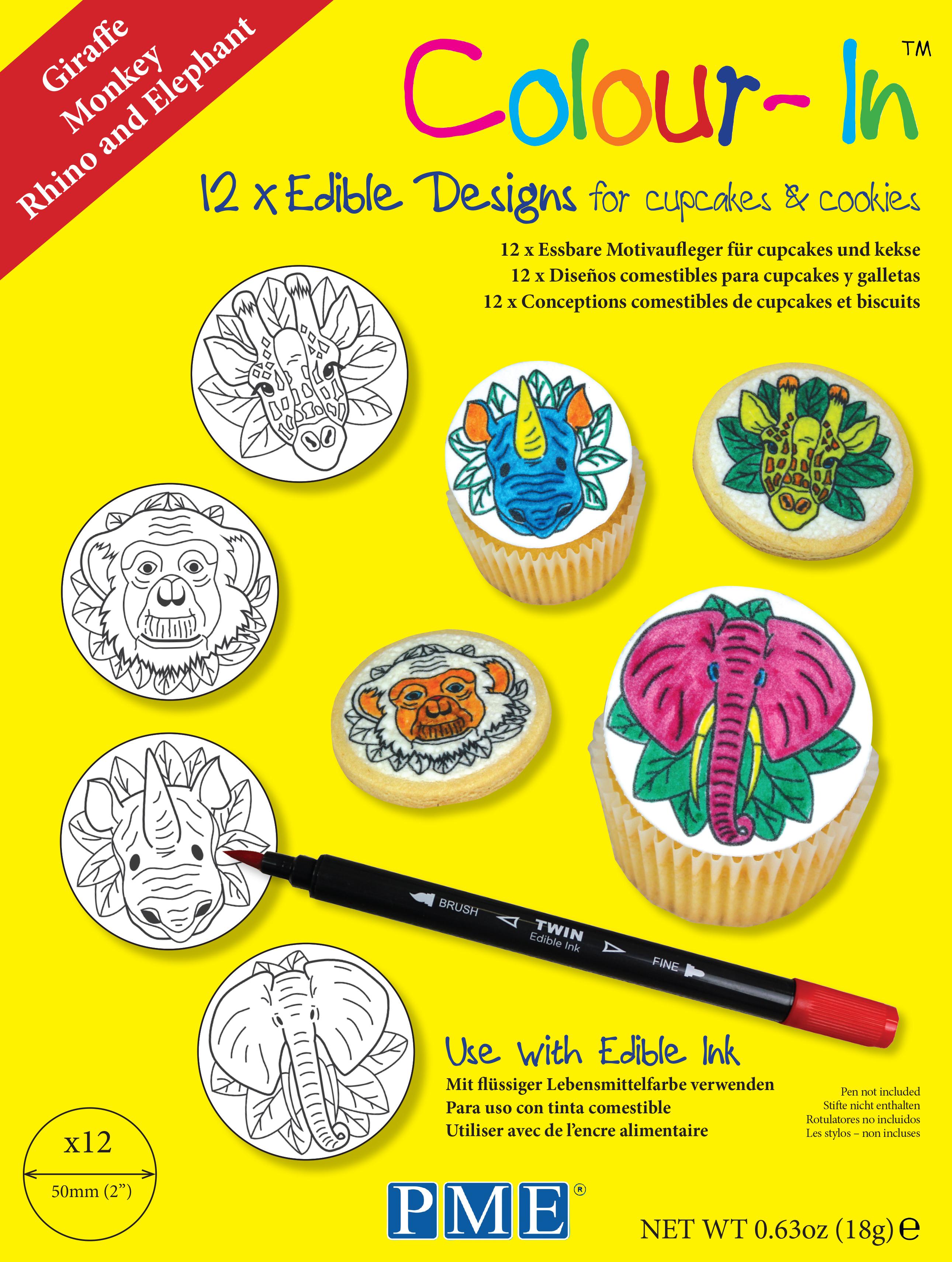PME Colour-In Edible Sugar Sheet Paper Topper Colouring ...
