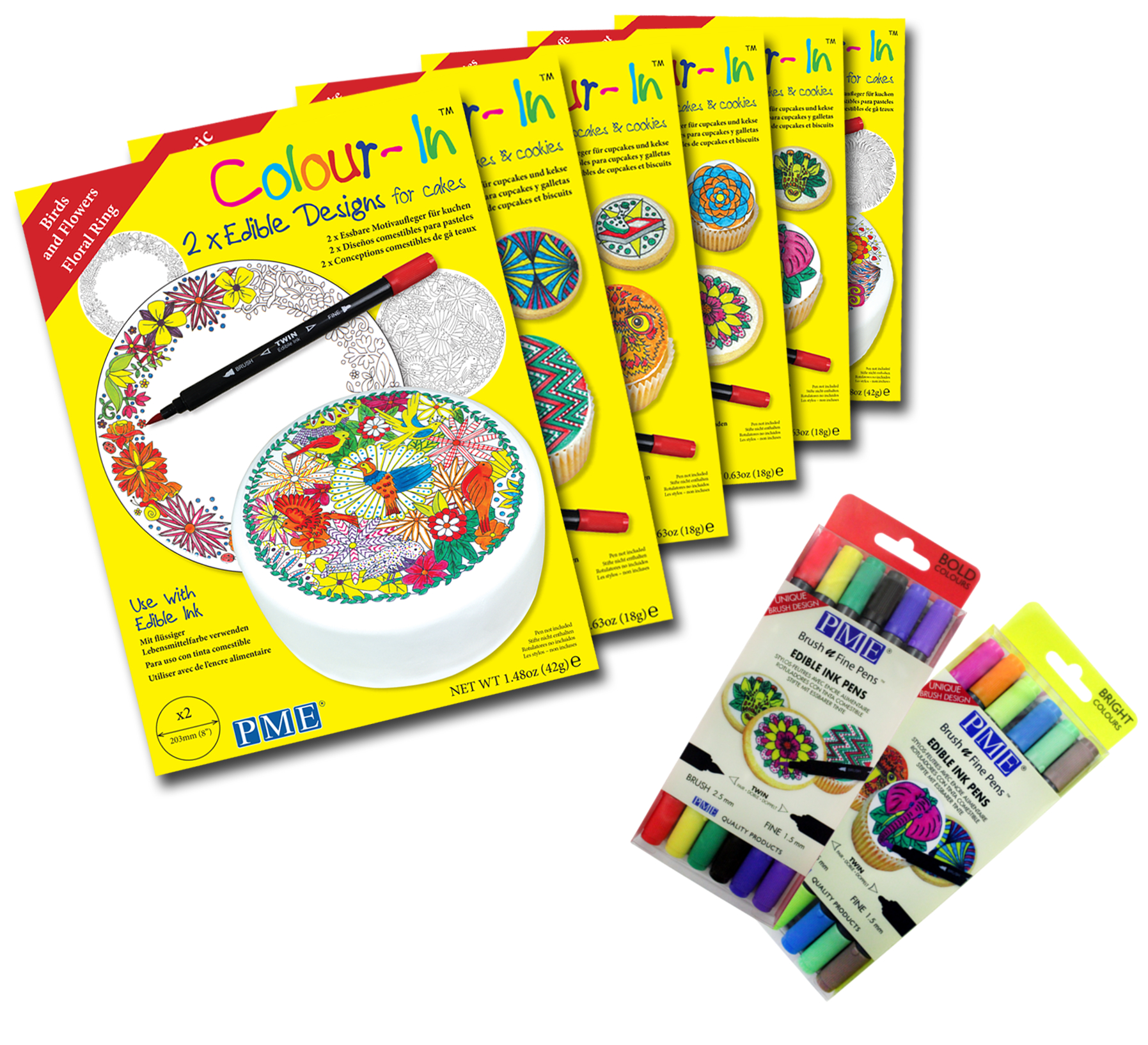 pme colour in edible sugar sheet paper topper colouring drawing