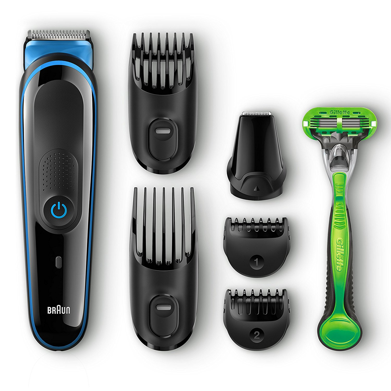 braun mgk3040 multi grooming kit 7 in 1 mens beard hair trimmer gillette raze. Black Bedroom Furniture Sets. Home Design Ideas