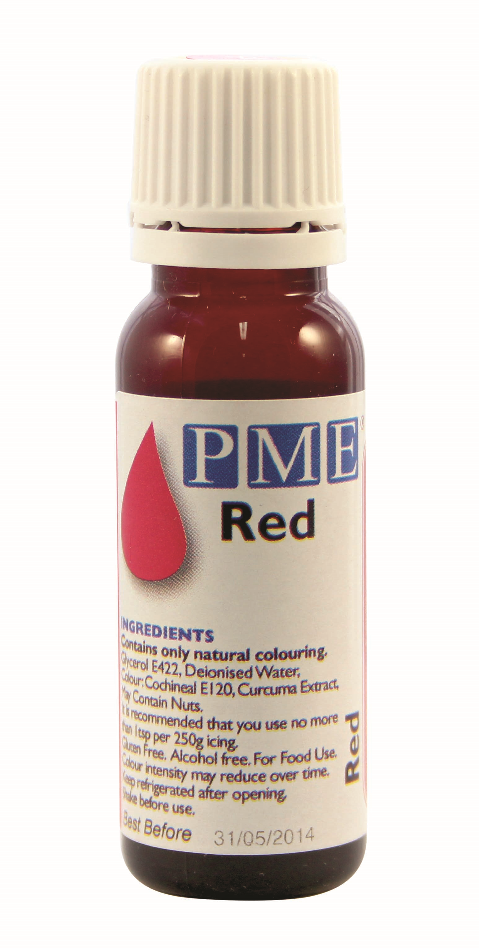 PME Natural Edible Liquid Food Colouring for Icing Sugarpaste Cake ...