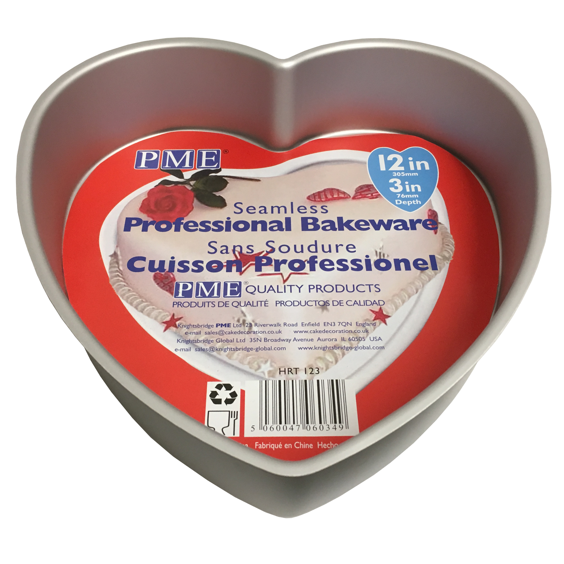 Heart Shaped Cake Tins : PME Heart Shaped Cake Baking Tin Pan Mould for Valentines ...