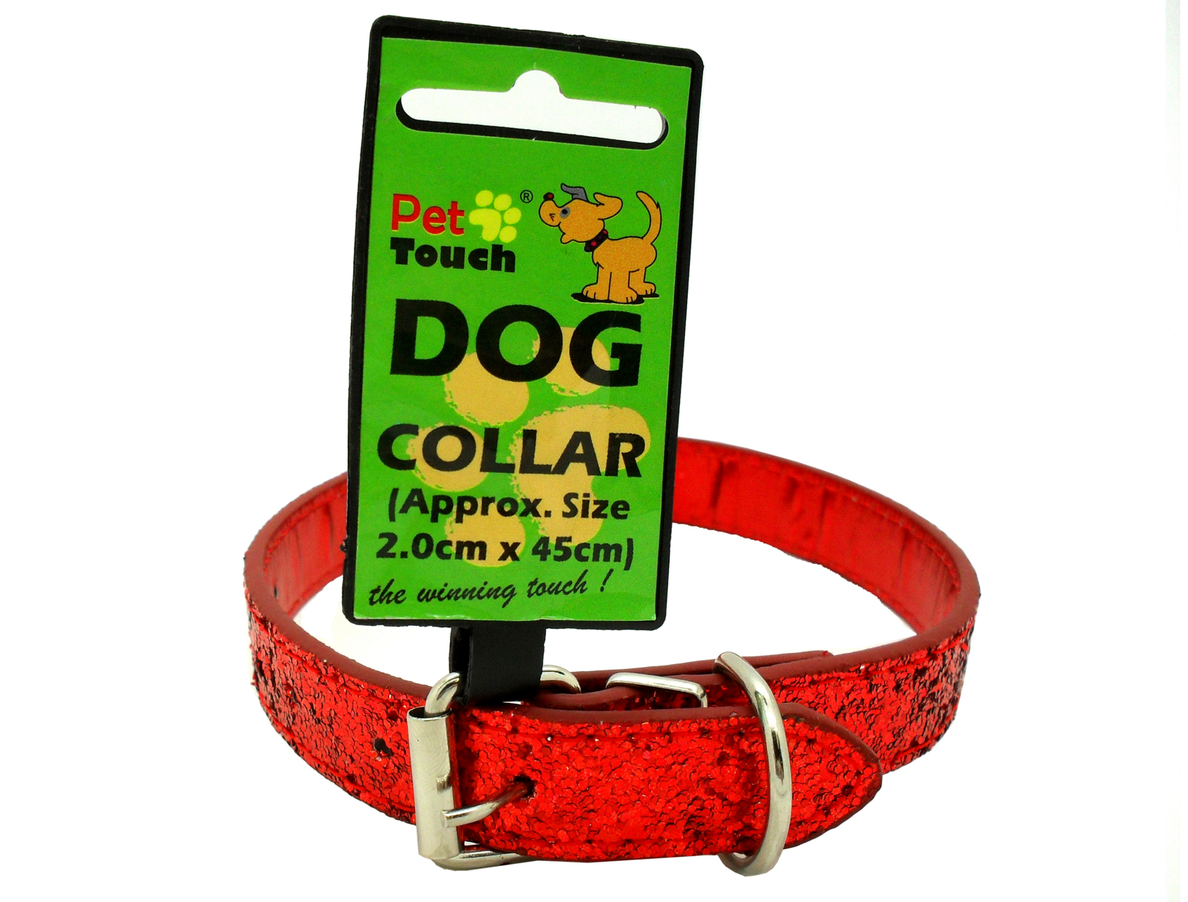 Red Glitter Dog Collar
