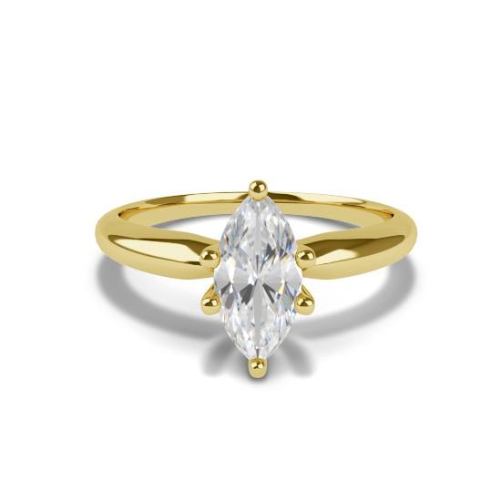 MARQUISE CUT DIAMOND RING WEDDING 1 63 CT VS1 8 PRONG SET 14K