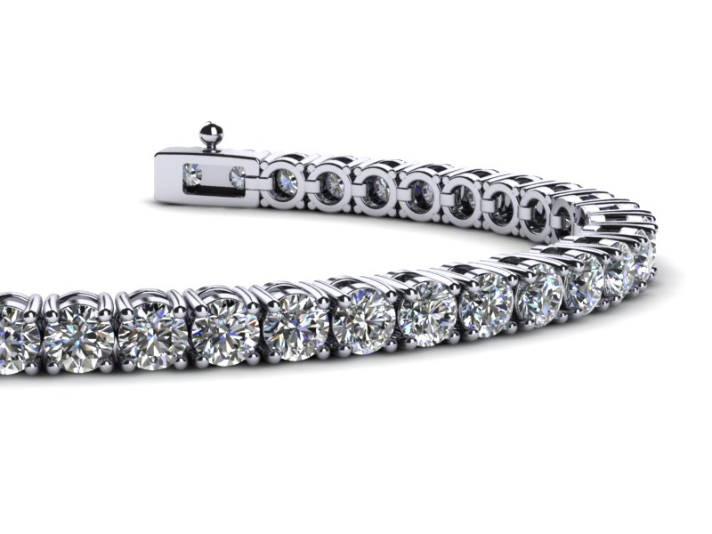 10 Carat Vs1 Vs2 G Diamond Tennis Bracelet 14 K Yellow