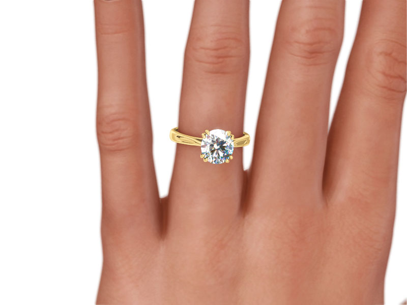 one solitaire diamond carat elegant ring of