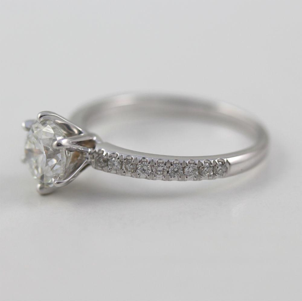 One Karat Diamond Ring White Gold
