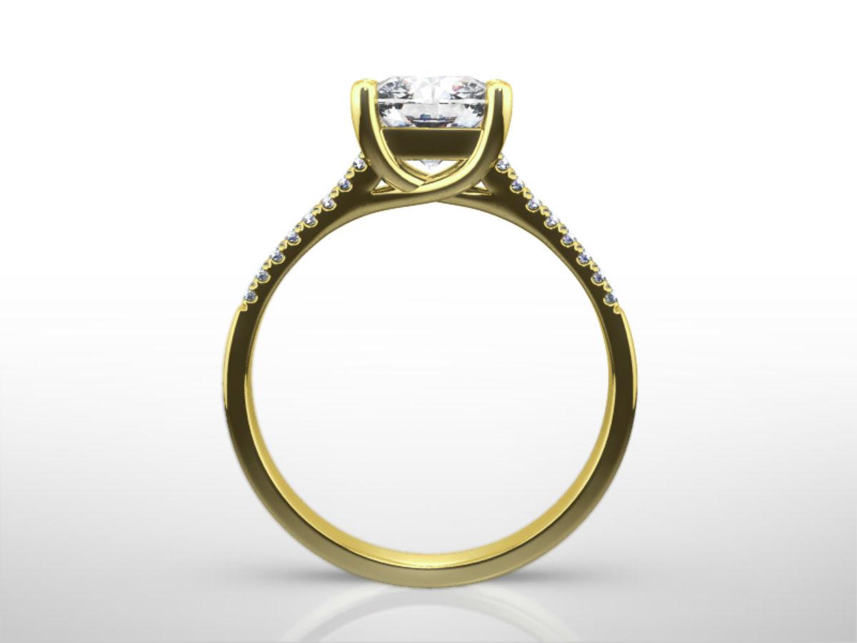 4 Carat Princess Cut Engagement Rings  Four Carat  Ritani