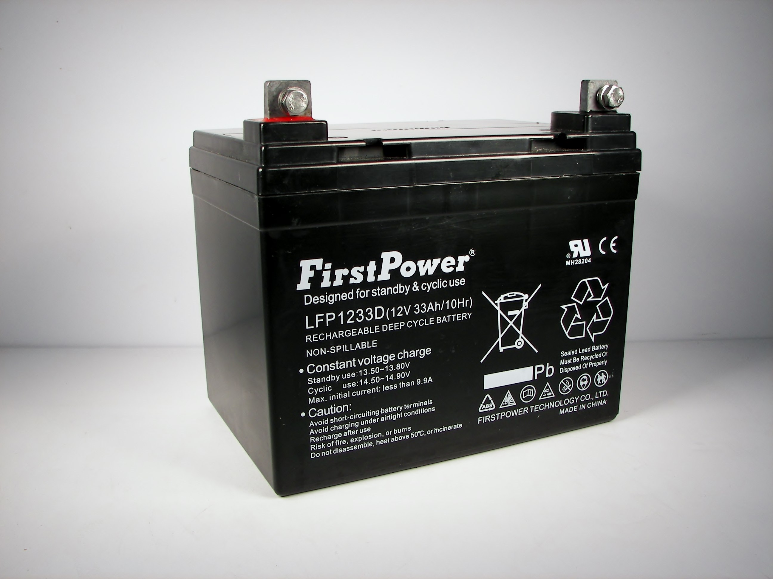 firstpower 12v 33ah for deep cycle solar battery also replaces 33ah 34ah 36ah ebay. Black Bedroom Furniture Sets. Home Design Ideas
