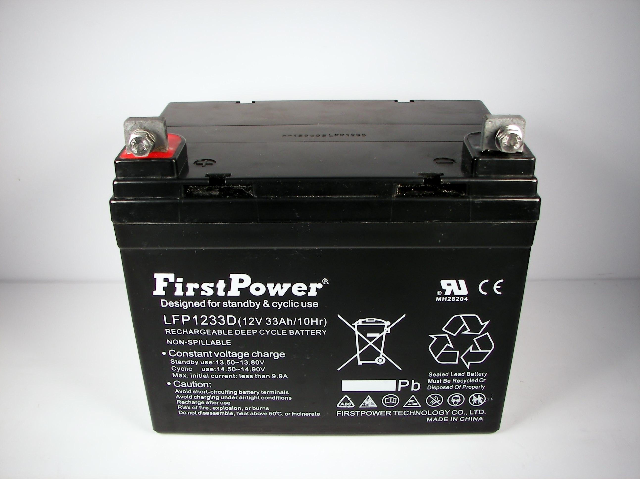 Firstpower 12v 33ah For Light Trolling Motor Battery
