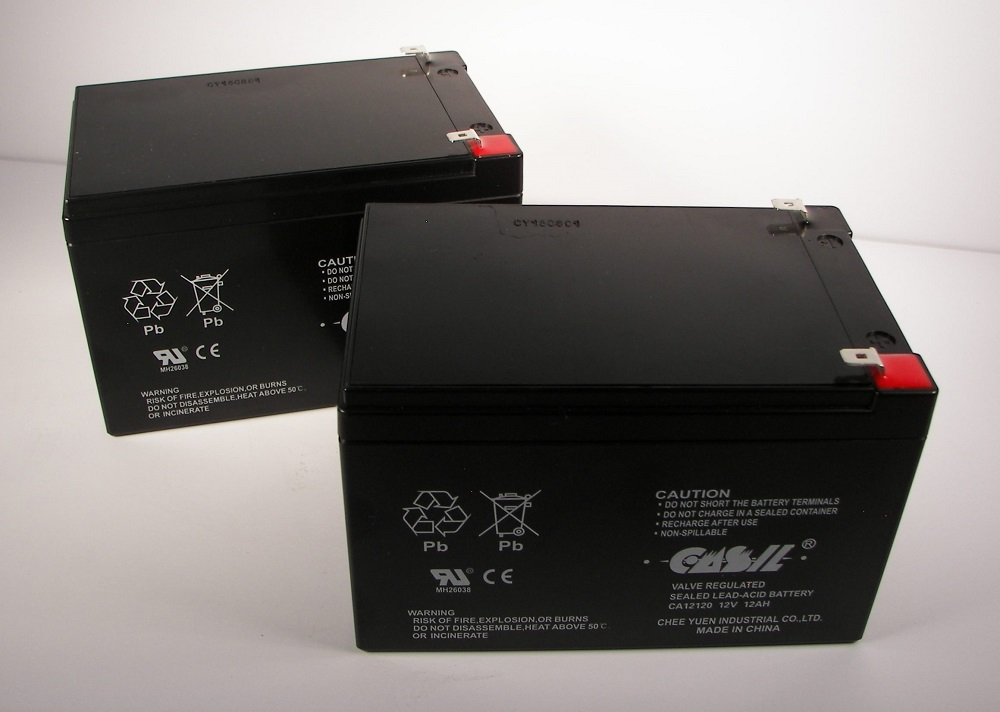 2 casil 12v 12ah f2 bike battery replaces discover. Black Bedroom Furniture Sets. Home Design Ideas