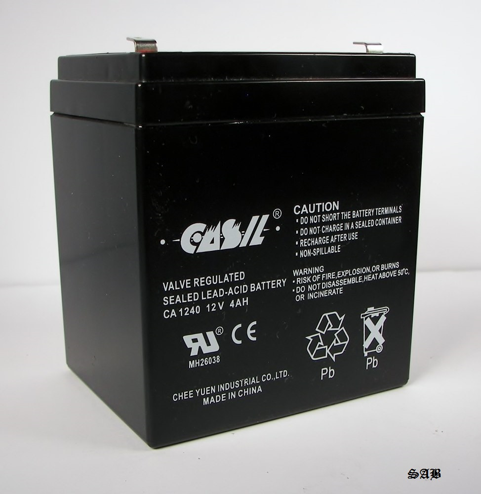 casil ca 1240 12v 4ah replacement battery for adt 804302. Black Bedroom Furniture Sets. Home Design Ideas