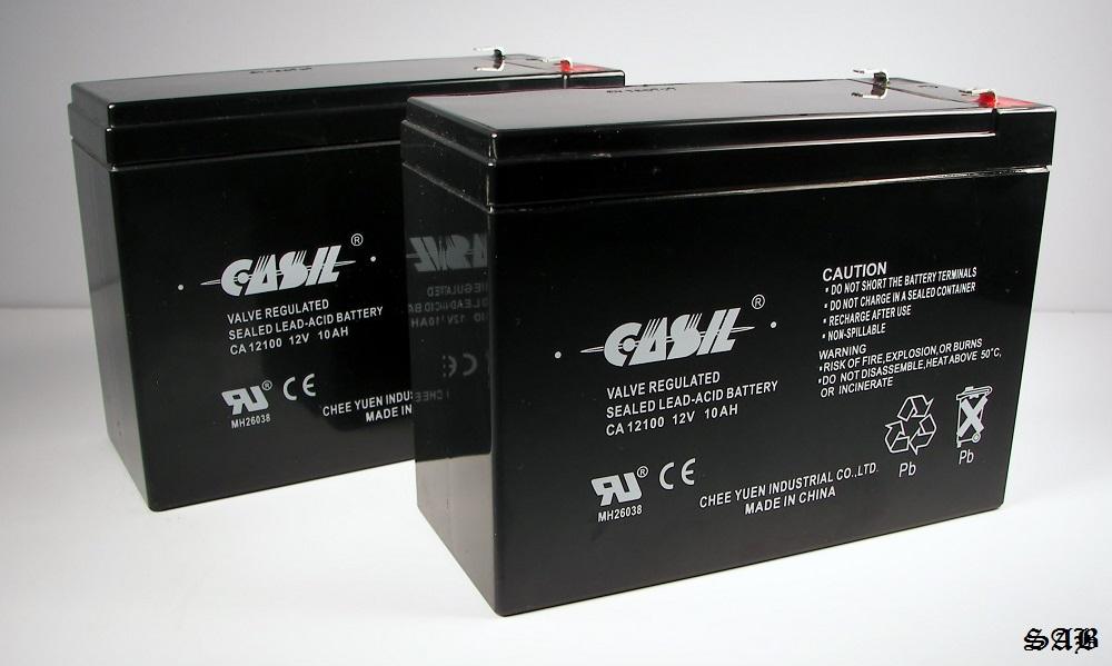 2 casil ca12100 12v 10ah for lashout 24 volt 400 watt scooter battery ebay. Black Bedroom Furniture Sets. Home Design Ideas