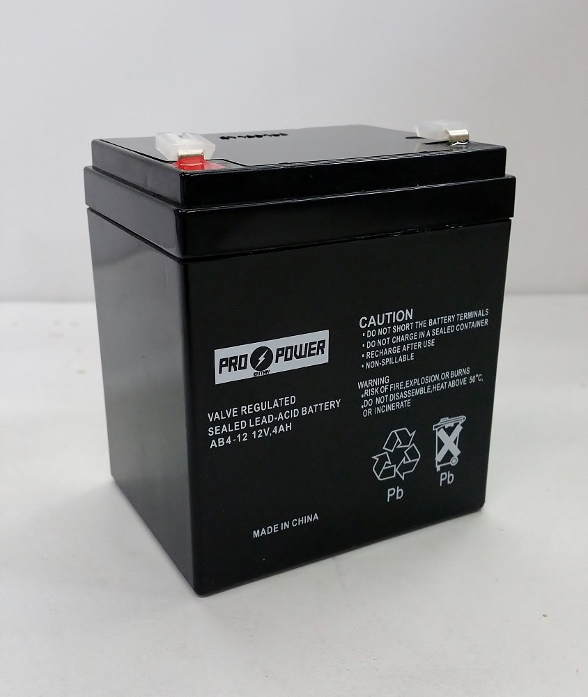 pro power 12v 4ah fire alarm battery for 12v brooks. Black Bedroom Furniture Sets. Home Design Ideas