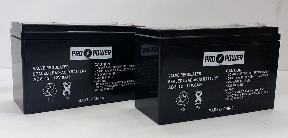 Pro Power (2) ProPower 12v 8ah for SLA Battery Replaces Vector VEC011 Jump Starter